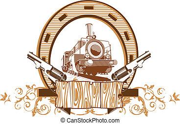 Wild West Vignette - Vectorial image on a theme wild west