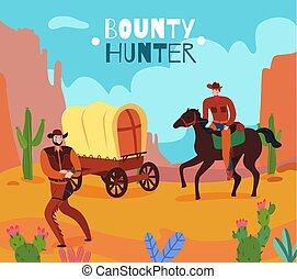 wild westen, achtergrond, bounty