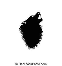 Wild wolf. Vector Graphics