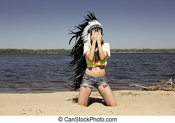wild young woman