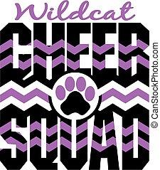 wildcat, aclamación, escuadra