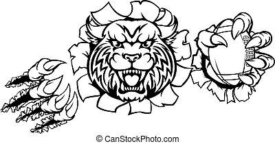Wildcat American Football Mascot