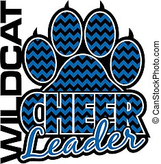 wildcat cheerleader - chevron wildcat cheerleader team...