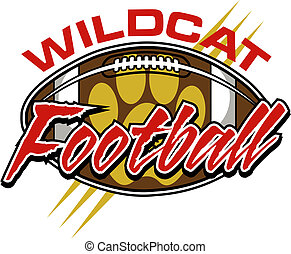 wildcat football design with ball