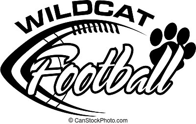 wildcat football team design with football laces for school,...