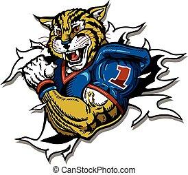 wildcat football player - wildcat football team design with...
