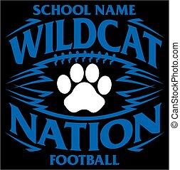 wildcat, futebol