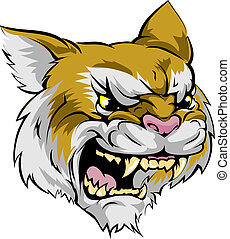 Wildcat mascot character - An illustration of a fierce ...