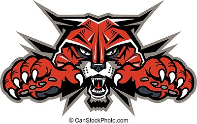 wildcat, mascotte, hoofd
