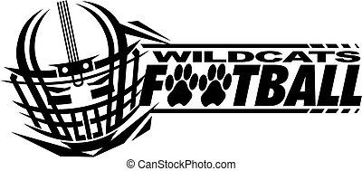 wildcats football team design with helmet and facemask for...