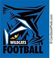 wildcats football team design with mascot eye black for...