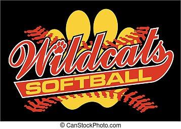 wildcats, sofbol