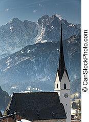 Wilder Kaiser mountains in Tyrol Austria in winter