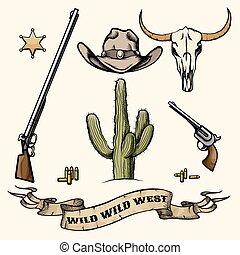 wilder westen, elemente