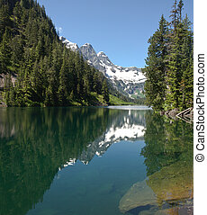 Wilderness alpine lake - The calm waters of a wilderness...