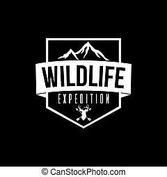 Wilderness Expedition Vector Design Black Background