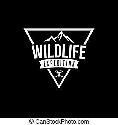 Wilderness Expedition Vector Design, Black Background