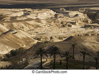 Wilderness of Judea from Israel in winter