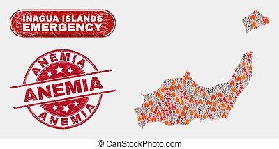 Wildfire and Emergency Collage of Inagua Islands Map and ...