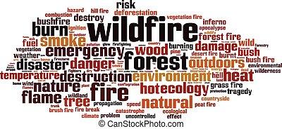 Wildfire-horizon - Wildfire word cloud concept. Vector ...