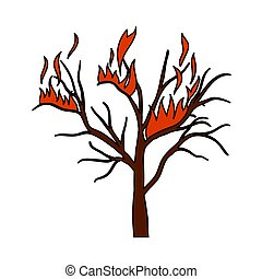 Wildfire Icon. Editable Outline With Color Fill Design. ...