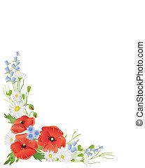 wildflower border - an illustration of a corner arrangement...