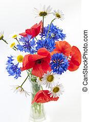 Wildflower bouquet - Bouquet of wildflowers - poppies,...