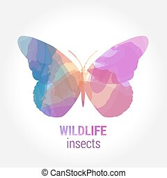 Wildlife banner - insects butterfly