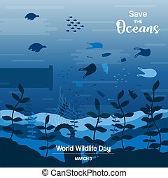 Wildlife Day concept for ocean life protection