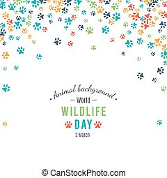 Abstract banner promotion of world wild life day - Wildlife...
