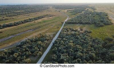 Wildlife Island Biryuchiy. Aerial survey