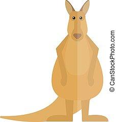 Cute kangaroo cartoon australia animal flat vector illustration.