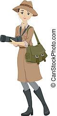 Wildlife Photography - Illustration of a Teenage Girl ...