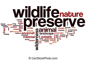 Wildlife preserve word cloud concept