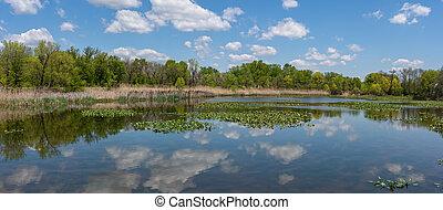 Wildlife Refuge Panorama - A panoramic view of the John ...