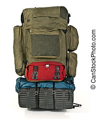wildnis, krieger, rucksack