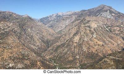 wildnis- landschaft, ansichten, an, king's, schlucht, und, mammutbaum- nationalpark, kalifornien, in, vereinigten staaten