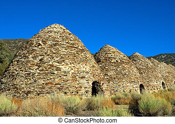 Wildrose Charcoal Kilns - beehive-shaped kilns formerly used...