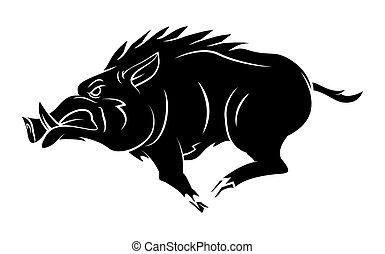wildschwein, t�towierung, maskottchen