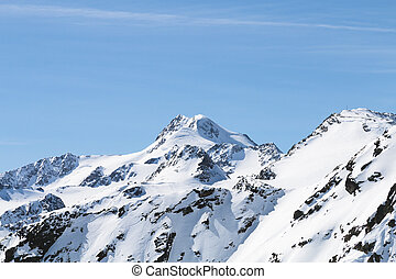 Wildspitze in Winter, Austria