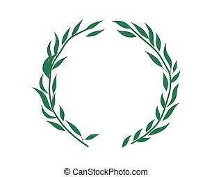 wilg, groene, ornament