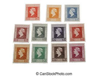 Wilhelmina stamps