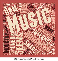Will DRM Save the Record Industry 1 text background wordcloud concept