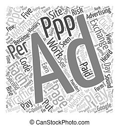 Will Pay Per Play PPP Work text background wordcloud concept