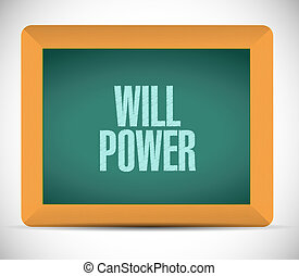will power chalkboard sign concept