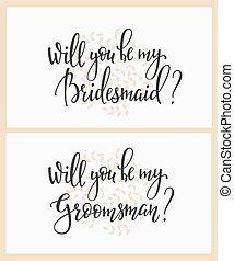 Will you be my bridesmaid groomsman Wedding sign - Romantic...