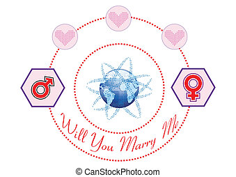 Will You Marry Me on The Internet Illustration in Vector