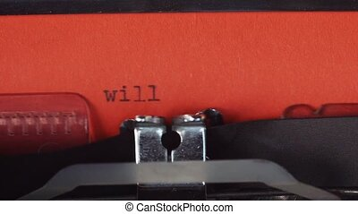 Will you marry me - Typed on a old vintage typewriter....