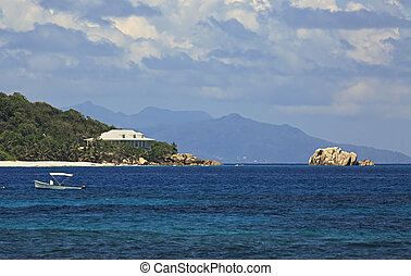 willa, wyspa, brzeg, indianin, ocean., kuzyn, seychelles.