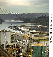 Willamette Falls Dam in Oregon City